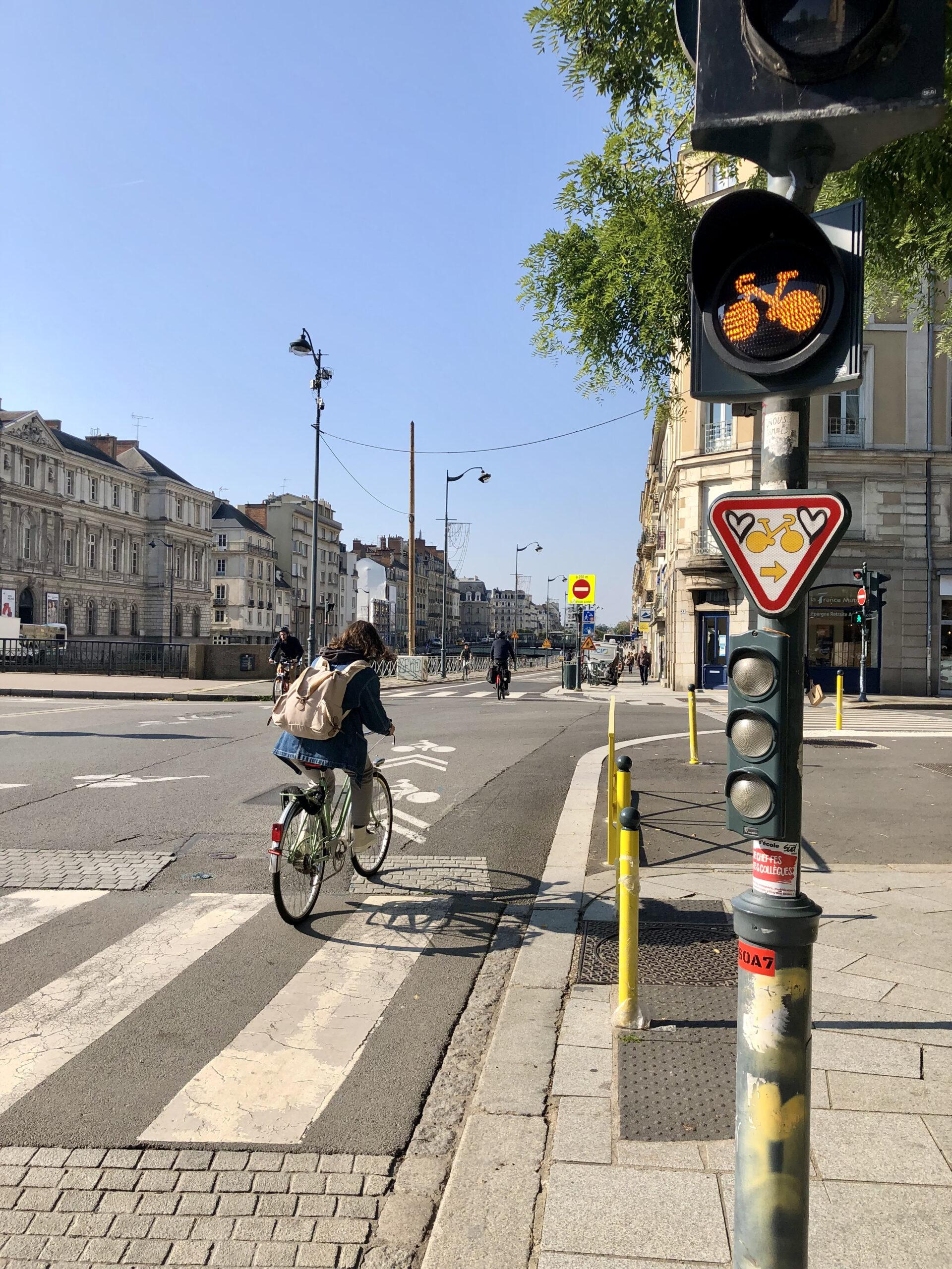 Feux par anticipation pour les vélos